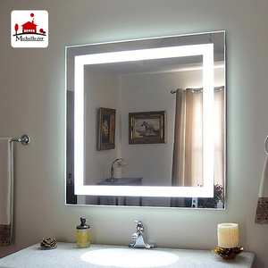 Wholesale wall mounted lights makeup square mirrors 5 Star hotel luxury led lighted modern mirror
