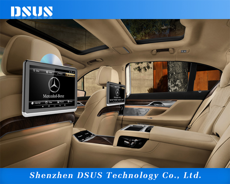 10'' tft lcd monitor headrest dvd TV monitor player for car