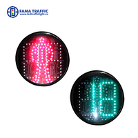 200mm led traffic light with counter wholesale Countdown Timer Traffic Light with Red Pedestrian