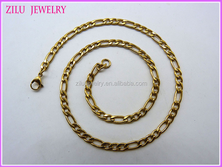 Stainless steel chains jewelry / figaro chain/ stainless steel necklace
