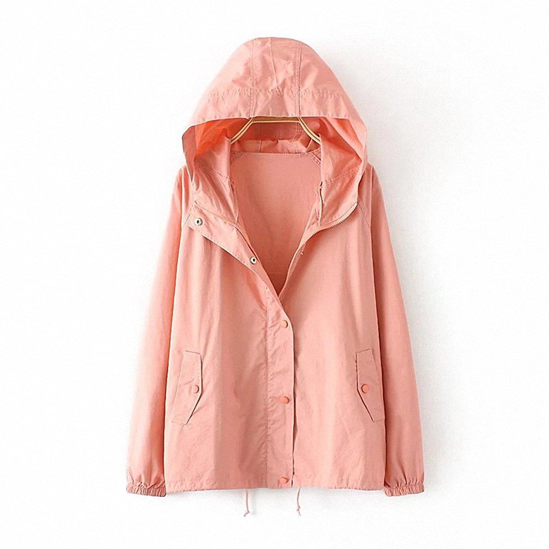 57e1e4d435655 Get Quotations · NEW Big Size Women Fashion Windbreaker Spring Autumn Long  Sleeved Hooded Jacket Coat Lady Korean Loose