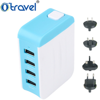 high quality 100% original factory made Fast Charging 4 Usb Ports Multi Usb Ports Travel Charger For Apple Samsung Smart Phone