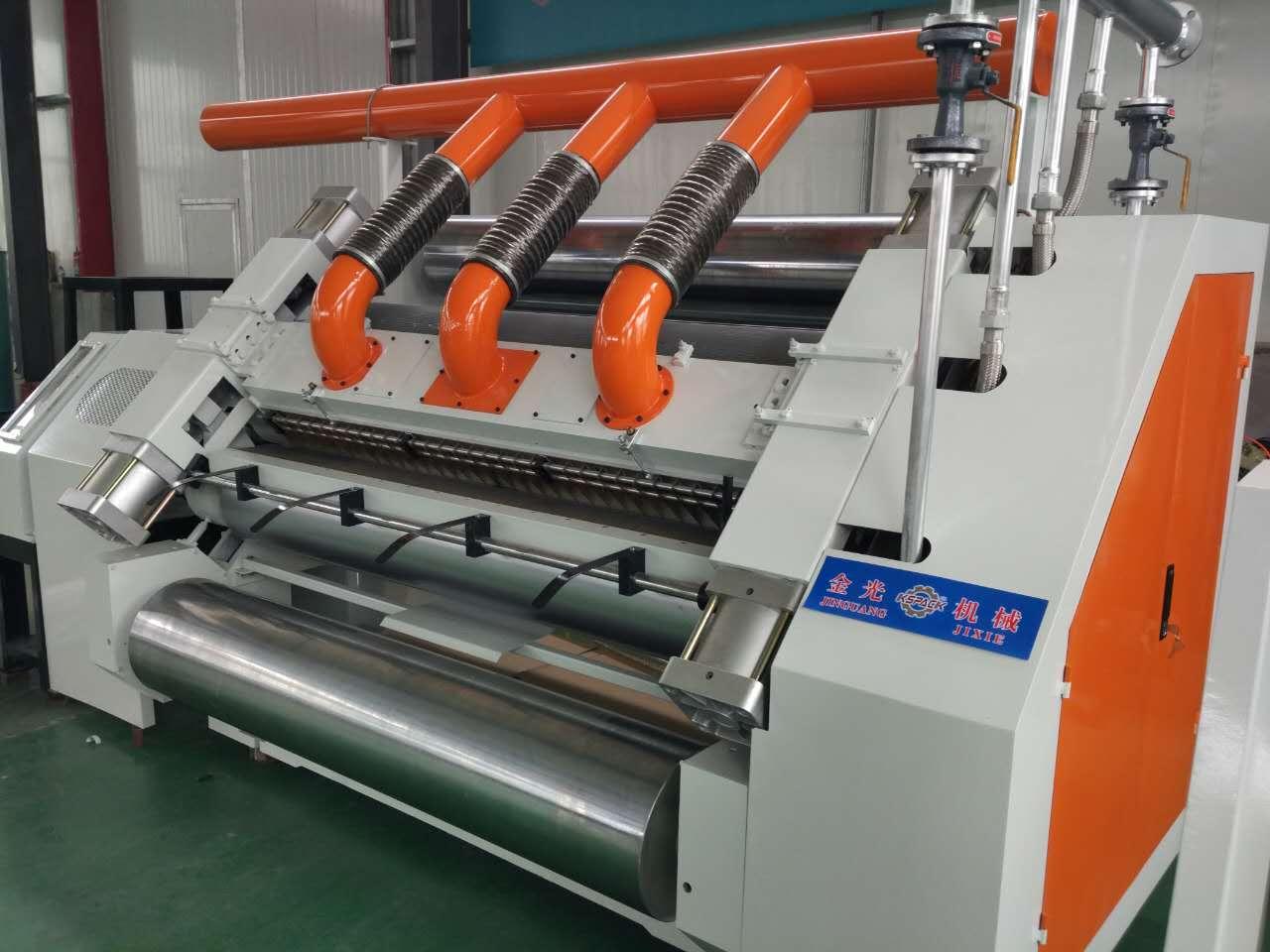 Автоматическая коробка производство гофрированной бумаги линии одно неожиданное препятствие машина