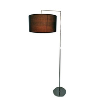 Modern irregular shape round shade floor lamp for living room