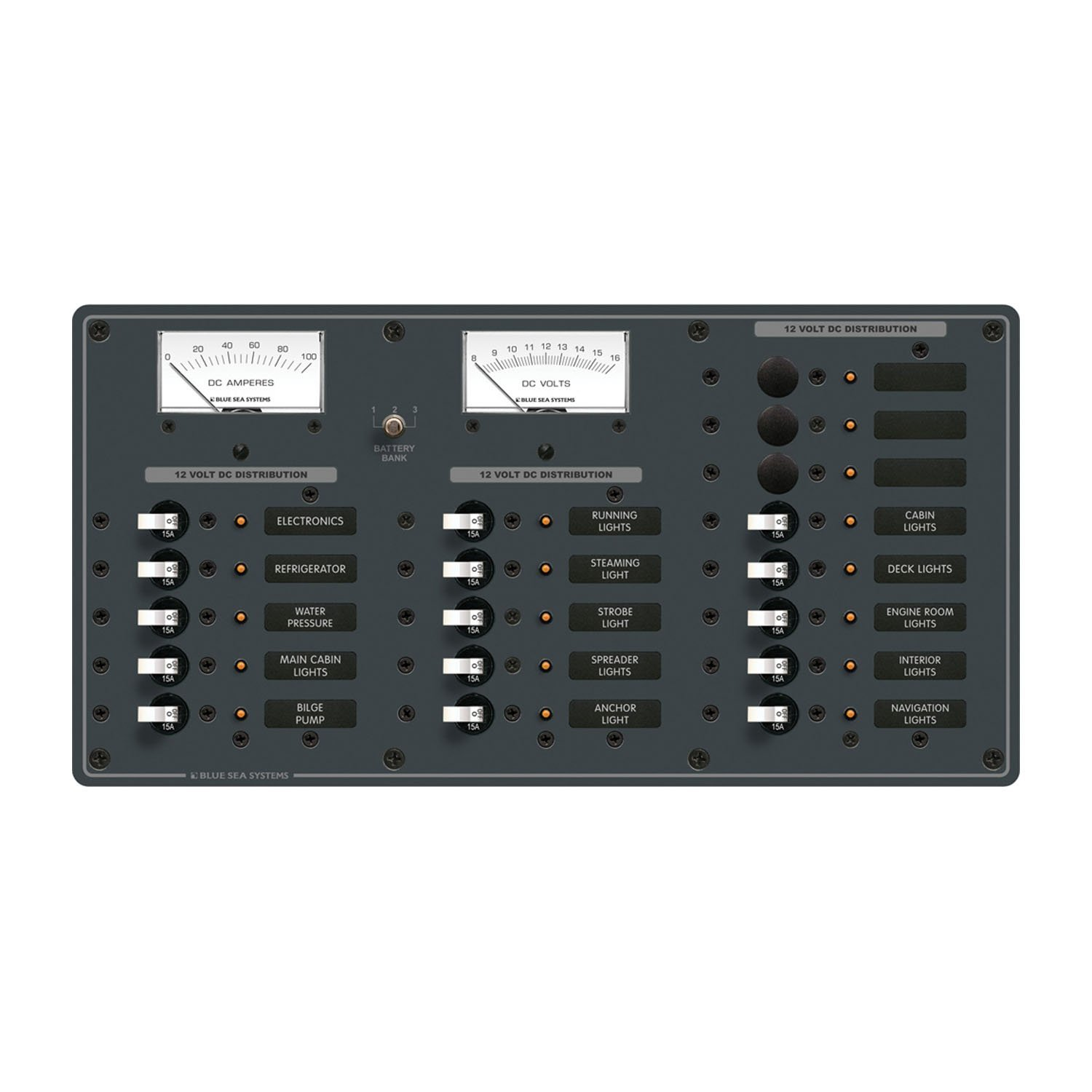 Blue Sea Systems 8378 18 Position DC Distribution Panel White