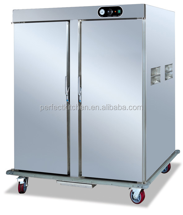 Double Doors Electric Food Warmer Trolley Hospital Food