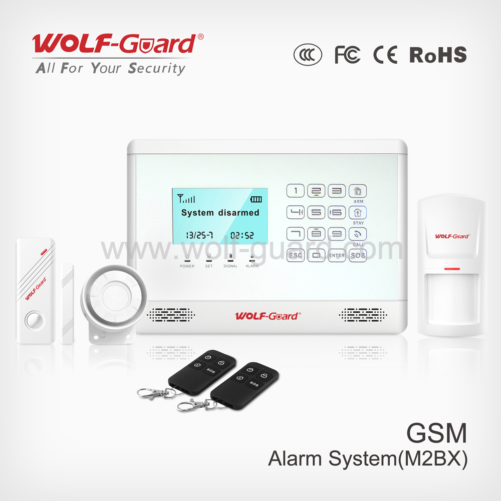 Factory price!! Wireless burglar gsm alarm security systems motorcycle alarm with LCD and touch keypad YL-007M2BX