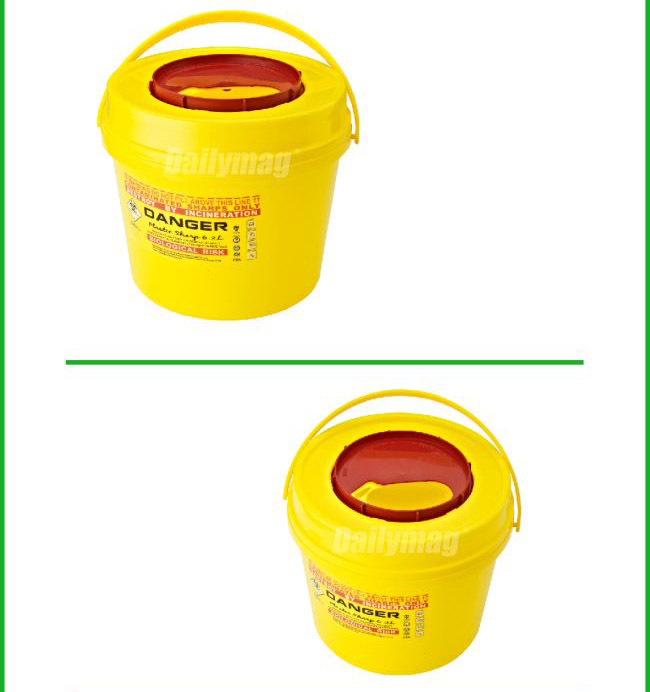 Fda approval dailymag leak proof 6l hospital waste for Decor 6l container