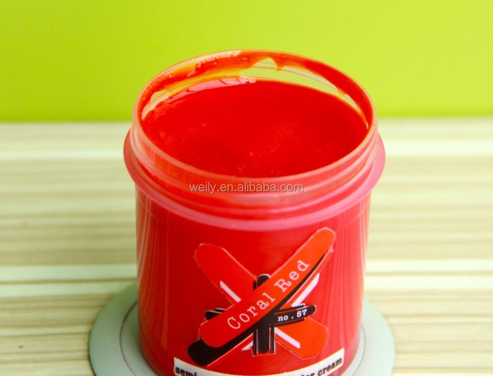 corail rouge fou cheveux couleur semi permanente cheveux colorant sans ammoniaque pas de peroxyde - Coloration Rouge Sans Ammoniaque