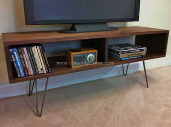 16 inch bare steel hairpin table legs for tv stand