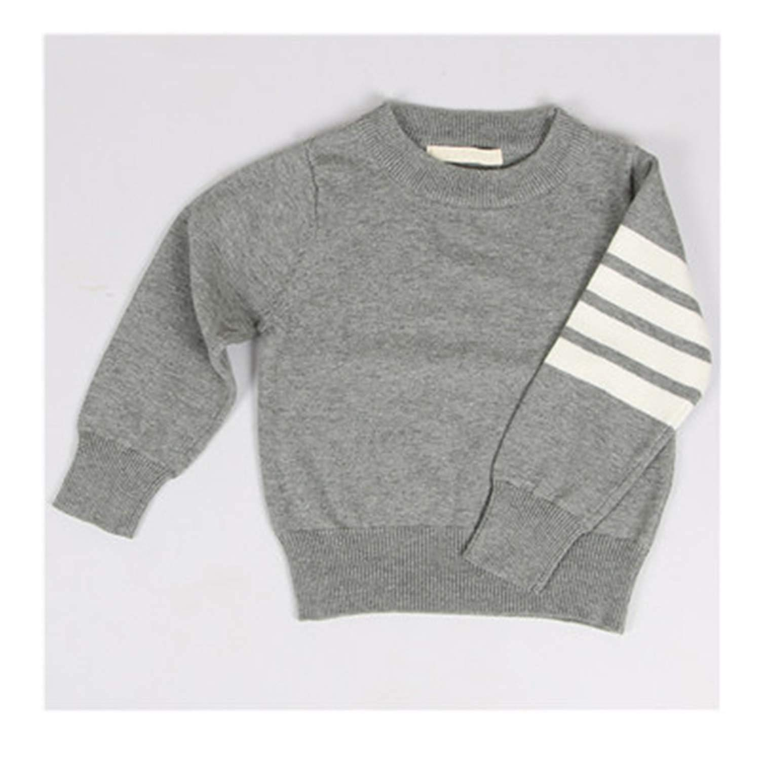 db2ea7985 New Solid Toddler Boy Sweater Pullover Long Sleeve Knit Outerwear Kids  Clothing