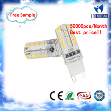 DC/AC12V 24SMD3014 G4 bulb g9 to gu10 lamp adapter with CE rohs Approval