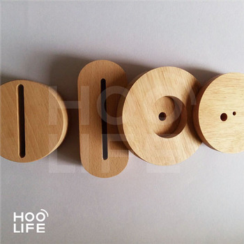 High Quality Led Lamp Wood Base With Table Lamp Round Wood