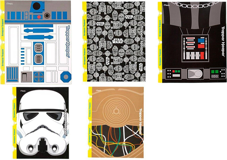 Mead Star Wars Trapper Keeper Snapper Trapper 2 Pocket & Prong Portfolio Folders R2-D2 C3-PO Stormtrooper Darth Vader Lot of 6 Bundle