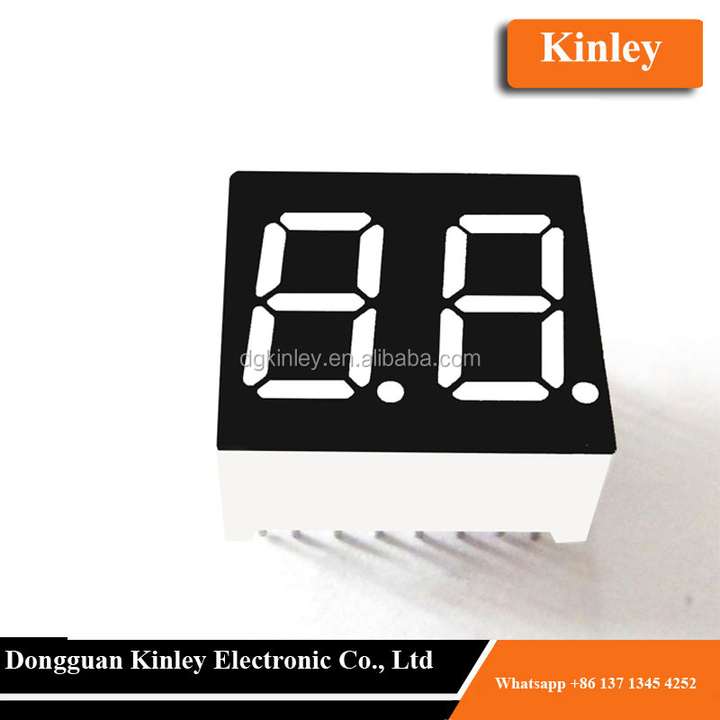 led display 2 digits 7 segment 0.36 inch with emitting yellow color from dongguan manufacture