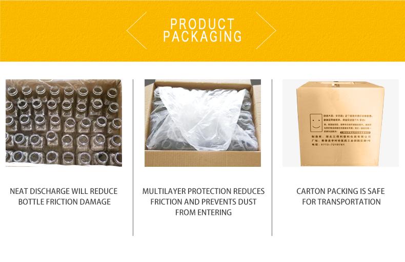 Botellas de plástico de grado alimenticio 1000g de miel con mango tapa de tornillo