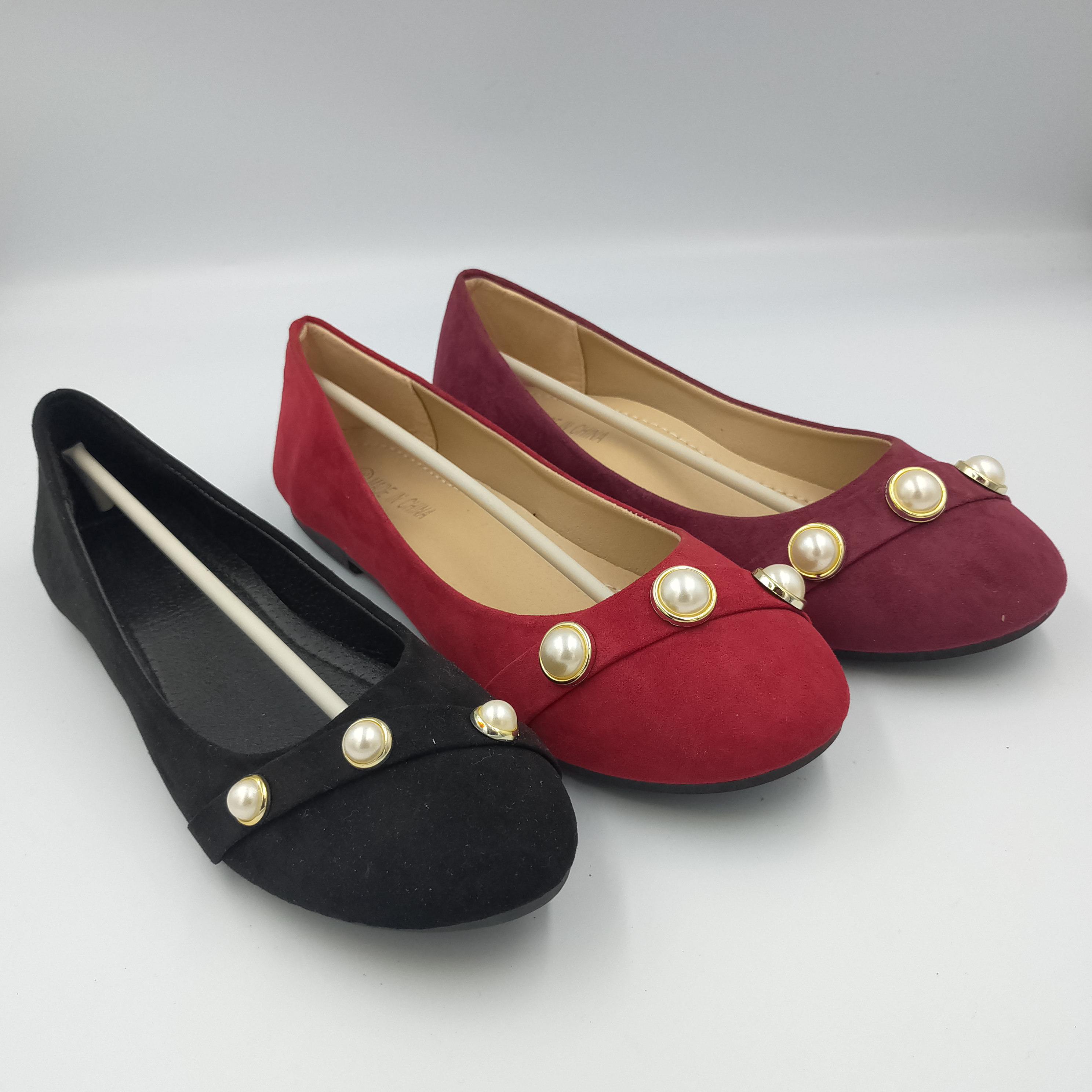 Best seller mulheres rasas flat shoes para as mulheres macio e confortável pu peso leve