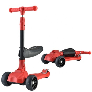 newest big wheel folding seat kick scooter for children