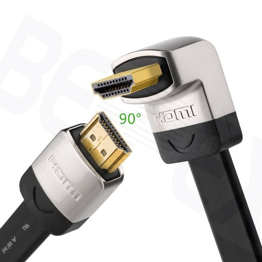 Flat 1080p HD Digital Camera 92 Degree HDMI Cable for Wall Display