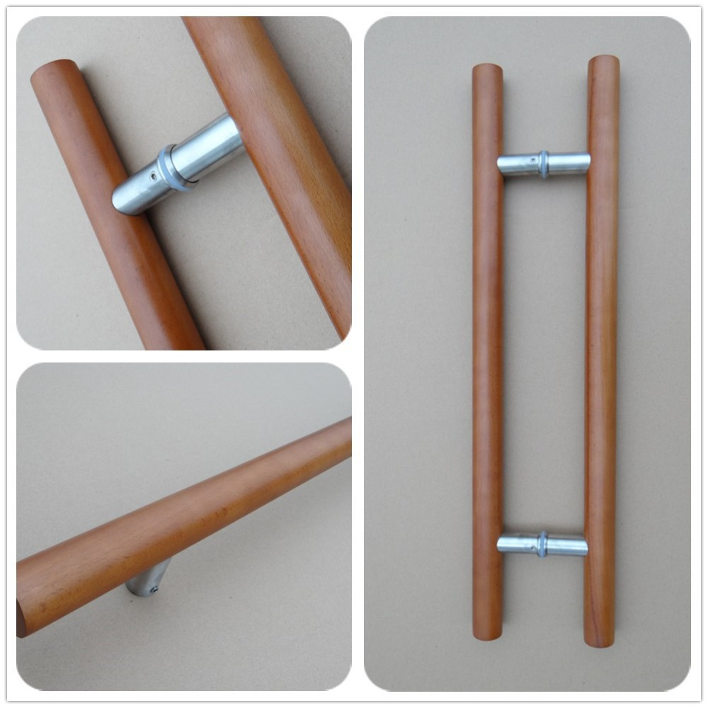 Factoryrb-3001w Supply Wood Door Pull Handle,Glass Door Handles Wood ...