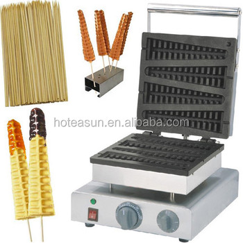 3 in 1 110v 220v Electric Lolly Waffle on a Stick Maker Machine Baker + Waffle Stick Holder + Bamboo Stick