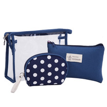 Cosmetic bag 투명 와 zipper Clear PVC Cosmetic Bag 와 Handles 주최자 Cosmetic Bag set <span class=keywords><strong>3</strong></span>