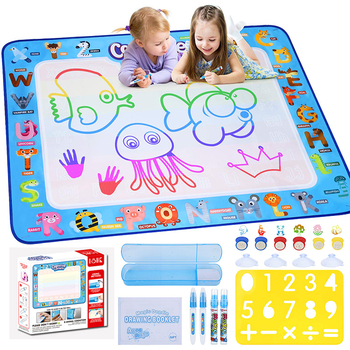 New products children play large aqua doodle water magic pen painting drawing mat for kids