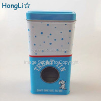 Pet Food Metal Tin Container / Dog Food Tins witn PVC window