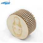 Wholesale Wood Craft Eco-friendly Round Wooden Storage Box
