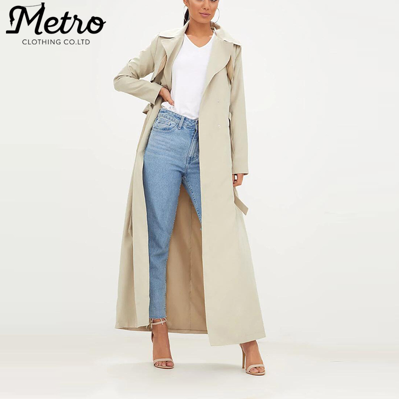 Custom Ladies Long Jacket Women Trench Coats