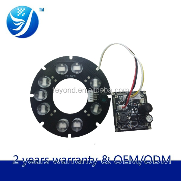 AHD Laser fittings cctv 13mil array 9-led ir laser wave light led aluminum circuit panel for camera assembly