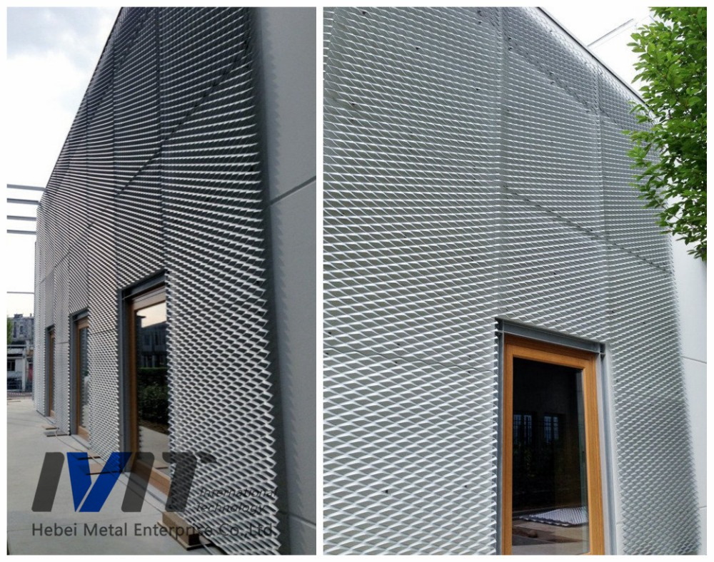 Mesh Curtain Wall : Decorative anodize aluminum expanded metal mesh for