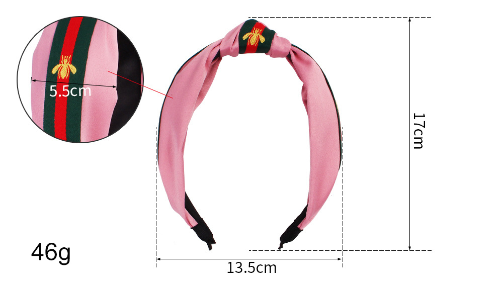 Simple Design Hairband Colorful Elastic Head Wrap Women Bees Headband  Knotted Hair Band For Girls