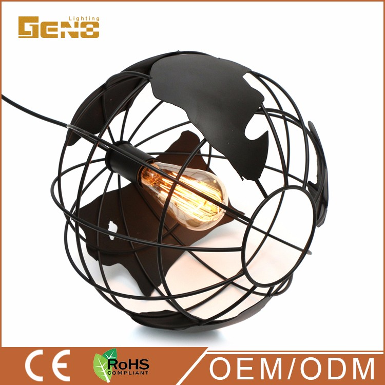 fancy china modern rohs light , hanging earth globe pendant lamp