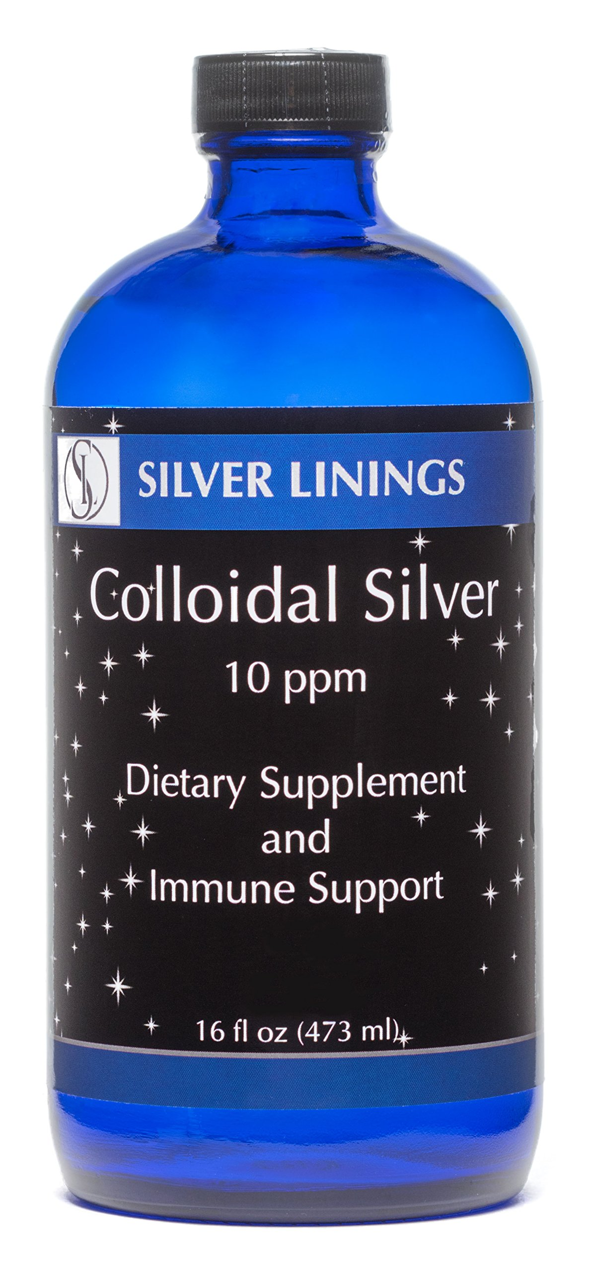 Get Quotations · Silver Linings Colloidal Silver Hydrosol, 10 PPM, A  Powerful Natural Antibiotic, and Preventative