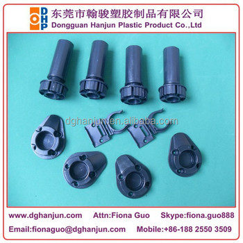 HJF 100A Plastic Adjustable Cabinet Leg/Leveling Feet +Drill Pattern End  Panel Support