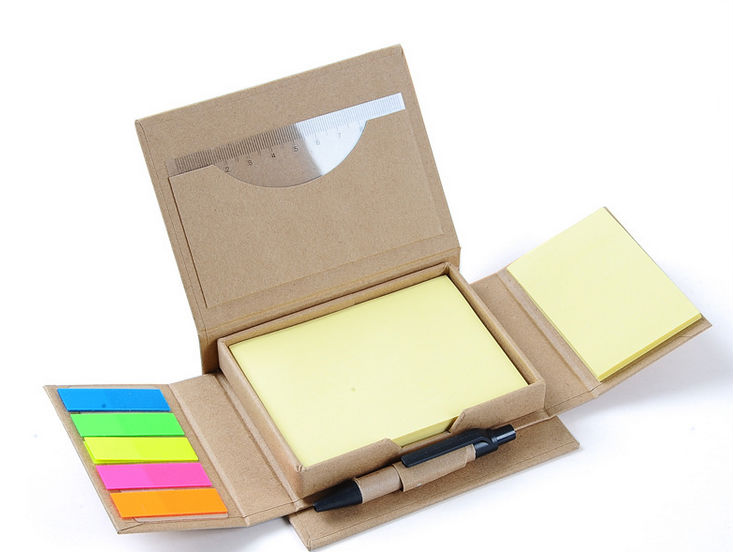 Kraft Paper Cover Note Pad With Pen,Recycling Sticky Note Pad With ...