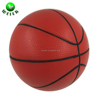 63mm Customized High quality PU material stress reliever toys basket ball