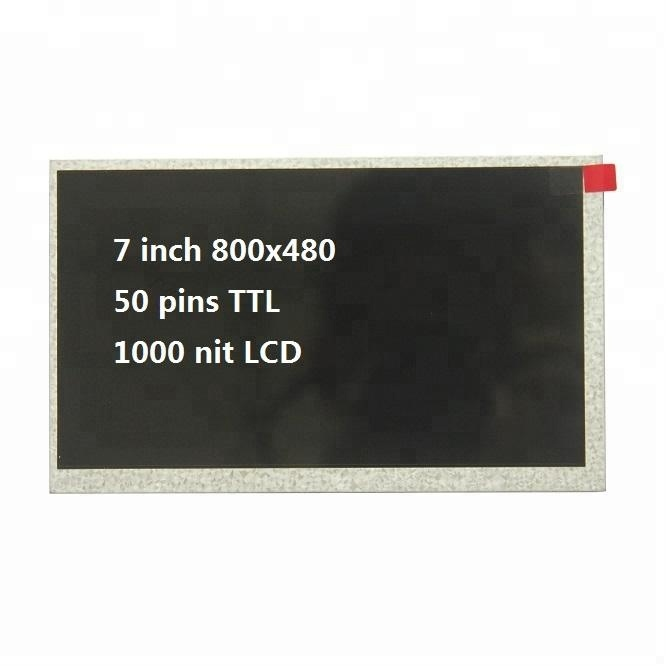 "7"" <strong>lcd</strong> hdmi 800x480 display/7 inch 800x480 <strong>lcd</strong> panel 1000 nit"