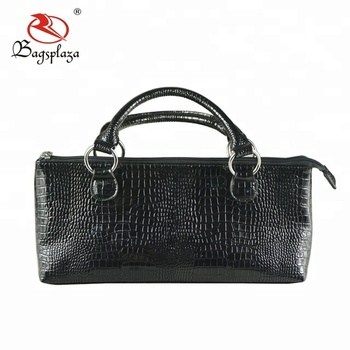 Black Crocodile Wine Clutch Bag Bottle Opener Cooler