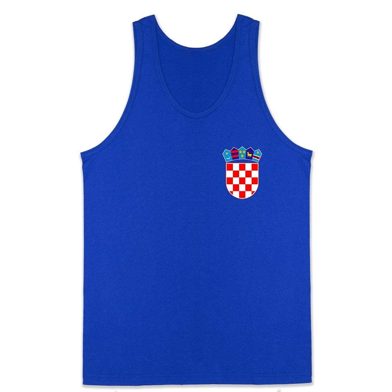475babdc8b2 Get Quotations · Pop Threads Croatia Soccer Retro National Team Unisex Tank  Top