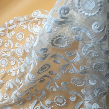 Sequins bridal decoration embroidered white tulle sequin embroidered sequins bridal decoration embroidered white tulle sequin embroidered lace fabric bandungsequin overlay fabric junglespirit Image collections
