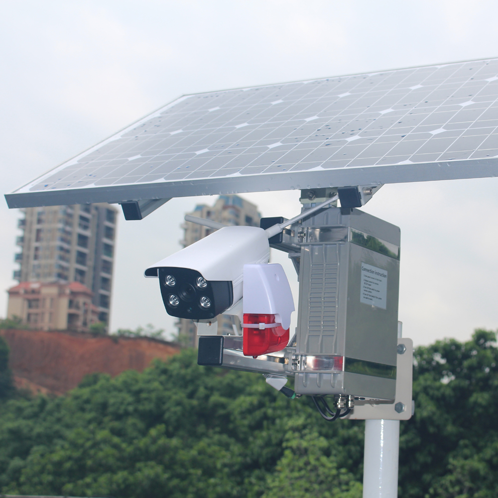 GOING tech Intelligence analysis 3MP solar powered cctv camera  wifi ip with alarm and 64g recording card