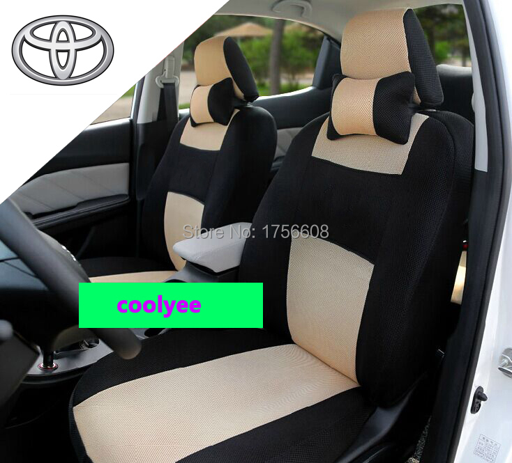 high quality car cover universal seat cover for toyota corolla camry rav4 prius 5 seats set 2. Black Bedroom Furniture Sets. Home Design Ideas