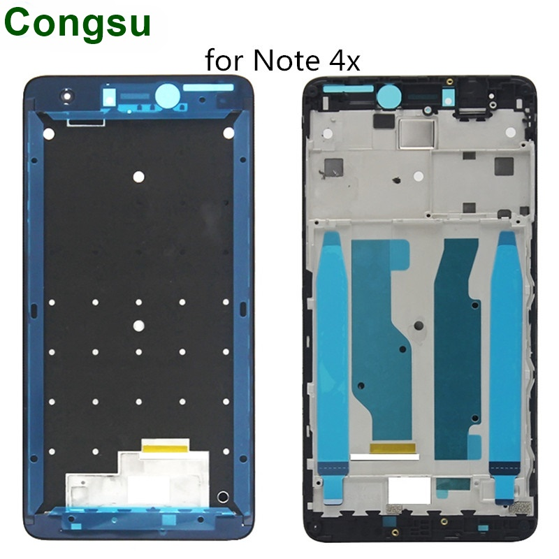 Congsu LCD Housing Plate Bingkai Bezel Housing Cover Depan Bingkai Papan untuk Xiaomi Redmi Note 4 4X Note4 Note4x tengah Bingkai Automotives