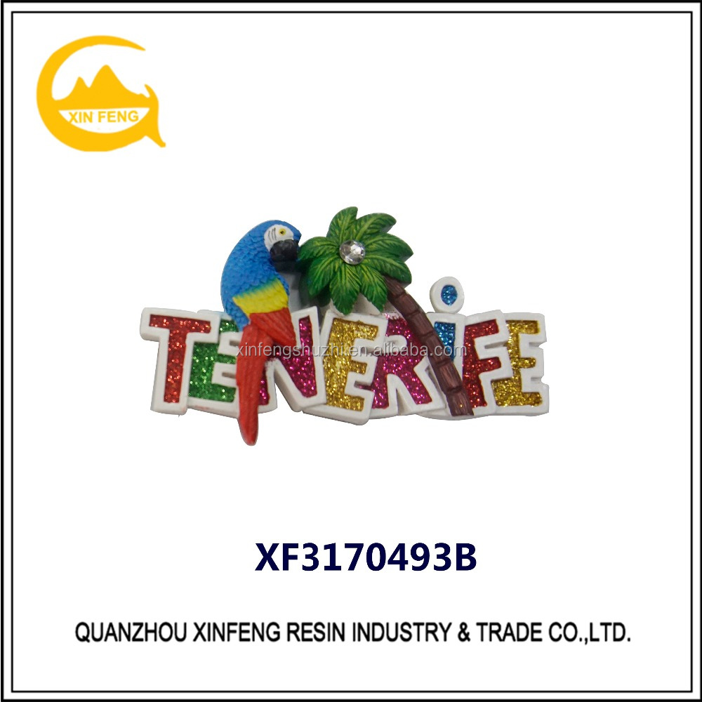 Resin promotional fridge magnets for TENERIFE city souvenir