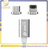 Magnetic charging cable for Micro Android 1M 2.4A Quick Charging Metal Plug Magnetic Sync Data USB