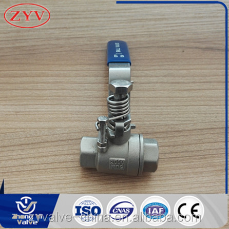 Made in China 2 piece automatic closing stainless steel ball valve