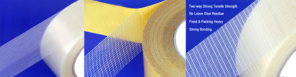 Single Sided Reinforced Adhesive Filament Strapping Tape For Heavy Package