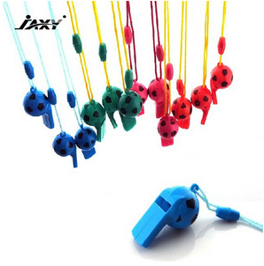 jaxy new style promotional football whistle colorful plastic toy whistle